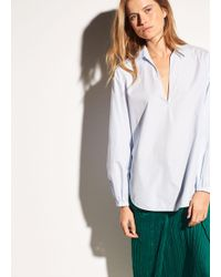 Vince - Swing Front Cotton Pullover - Lyst