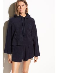 Vince - Wide Sleeve French Terry Hoodie - Lyst