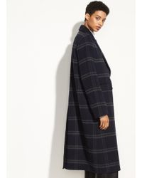 Vince - Shadow Plaid Coat - Lyst