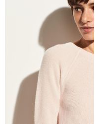 Vince | Directional Rib Cashmere Pullover | Lyst