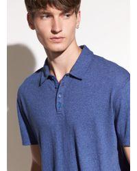 Vince | Raw Edge Polo T-shirt | Lyst
