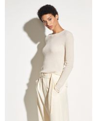 Vince - Waffle Marl Wool And Cashmere Crew - Lyst
