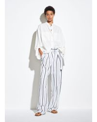 Vince Belted Stripe Trousers
