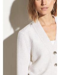 Vince Cashmere Shrunken Button Cardigan