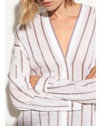 Vince - Textured Stripe Blouse - Lyst