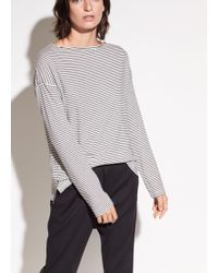Vince | Pencil Stripe Organic Pima Cotton Boatneck | Lyst