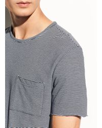 Vince | Feeder Stripe Pima Cotton Short Sleeve | Lyst