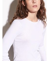 Vince - Ribbed Long Sleeve Pima Cotton Crew - Lyst