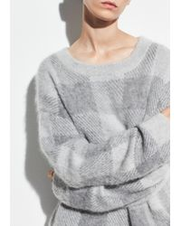 Vince - Checked Knitted Jumper - Lyst
