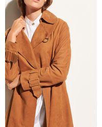 Vince - Suede Trench - Lyst