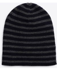 Vince - Striped Ribbed Merino Wool Beanie - Lyst