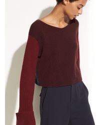 Vince - Color Block Cashmere Pullover - Lyst
