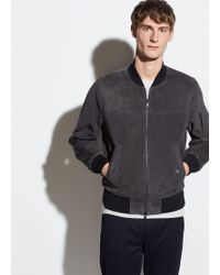 Vince - Suede Bomber - Lyst