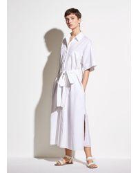 Vince Short Sleeve Utility Shirt Dress