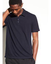 Vince - Raw Edge Polo T-shirt - Lyst