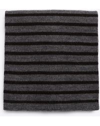 Vince - Striped Ribbed Merino Wool Scarf - Lyst