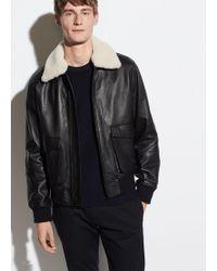 Vince - Leather Aviator Jacket - Lyst