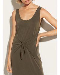 Vince - Sleeveless Wrap Dress - Lyst