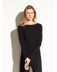 Vince - Ribbed Long Sleeve Top - Lyst
