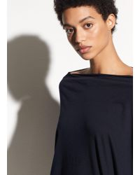 Vince | Pima Cotton Mock Neck Top | Lyst