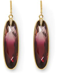 Vince Camuto - Red Jewel Oval Earrings - Lyst