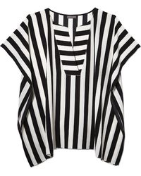 Vince Camuto   Striped Poncho Top   Lyst