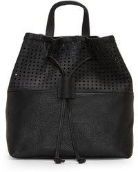 fc513dd8212f Michael Kors Rhea Mini Perforated Leather Backpack in Black - Lyst