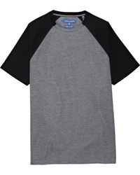 Vince Camuto - Mixed-material Raglan-sleeve T-shirt - Lyst