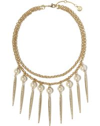 Vince Camuto - Faux Pearl Statement Necklace - Lyst