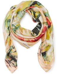 Vince Camuto - Watered Blooms-print Scarf - Lyst