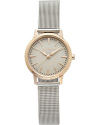 Vince Camuto - Silvertone Mesh-band Watch - Lyst