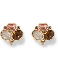Vince Camuto - Stone Cluster Clip-on Earrings - Lyst