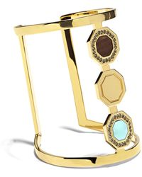 Vince Camuto - Louise Et Cie Octagon-embellished Open Cuff - Lyst