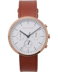 Vince Camuto - Chronograph Leather-band Watch - Lyst