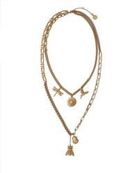 Vince Camuto - Mixed-chain Charm Necklace - Lyst