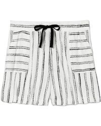 Vince Camuto - Striped Drawstring Shorts - Lyst