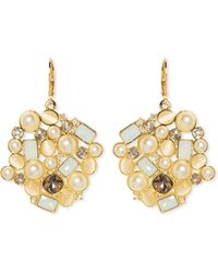 Vince Camuto - Mixed-gem Drop Earrings - Lyst