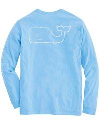 10c06c5a4 Vineyard Vines - Long-sleeve Vintage Whale Graphic Pocket T-shirt - Lyst
