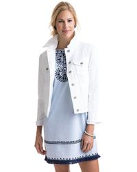 Vineyard Vines - White Denim Jacket - Lyst
