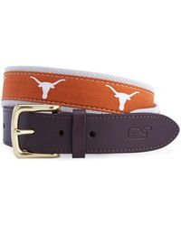 Vineyard Vines - University Of Texas Canvas Club Belt - Lyst