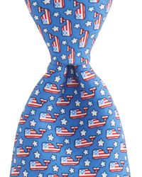 Vineyard Vines - Flag Whale Tie - Lyst
