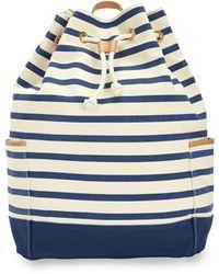 Vineyard Vines Seaside Stripe Daypack Bag - Blue