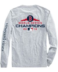 Vineyard Vines - Adult Long-sleeve Boston Red Sox World Series Champions T-shirt - Lyst