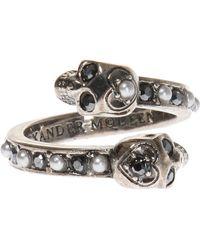 Alexander McQueen - Ring With Skulls - Lyst