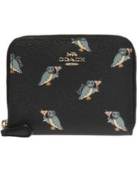 COACH - 1941 Small Zip Around Wallet With Party Owl Print - Lyst