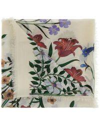 Gucci - 'new Flora' Printed Shawl - Lyst