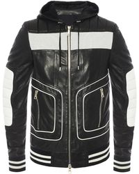 Balmain - Jacket With Perforated Inserts - Lyst