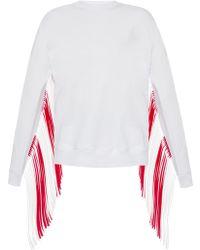 MSGM - Fringed Sweatshirt - Lyst