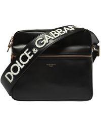 bf599234a138 Dolce & Gabbana Logo Tape Belt Bag in Black for Men - Lyst