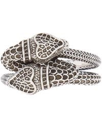 Gucci - Silver Ring With A Snake Motif - Lyst